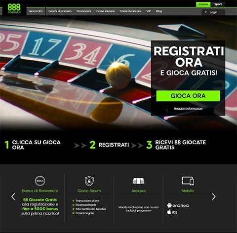 Recensione casino online 888